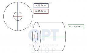 Registrierpapier T-120 (1 VE=3 Rollen)